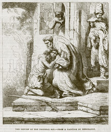 The Return of the Prodigal Son. Illustration for The Works of Eminent Artists (Cassell, 1854).