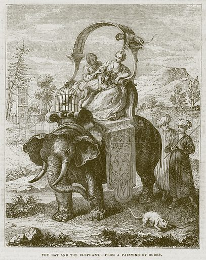 The Rat and the Elephant. Illustration for The Works of Eminent Artists (Cassell, 1854).