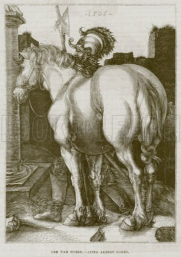 The War Horse. Illustration for The Works of Eminent Artists (Cassell, 1854).