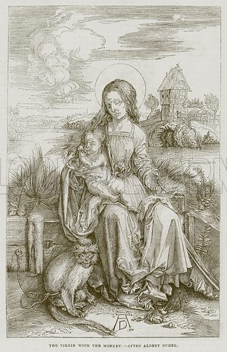 The Virgin with the Monkey. Illustration for The Works of Eminent Artists (Cassell, 1854).