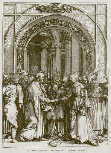 The Marriage of Mary Amd Joseph. Illustration for The Works of Eminent Artists (Cassell, 1854).