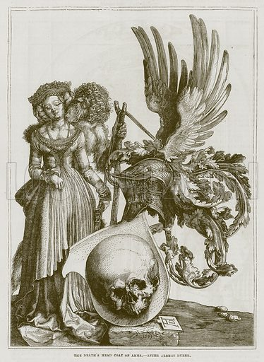 The Death's Head Coat of Arms. Illustration for The Works of Eminent Artists (Cassell, 1854).