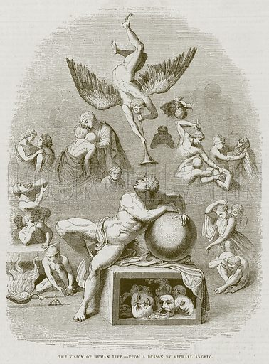 The Vision of Human Life. Illustration for The Works of Eminent Artists (Cassell, 1854).