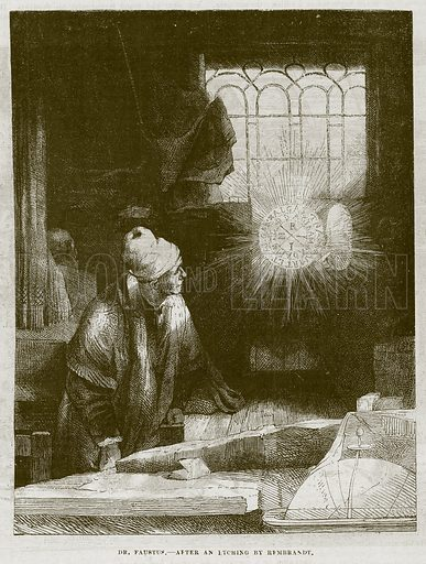 Dr Faustus. Illustration for The Works of Eminent Artists (Cassell, 1854).