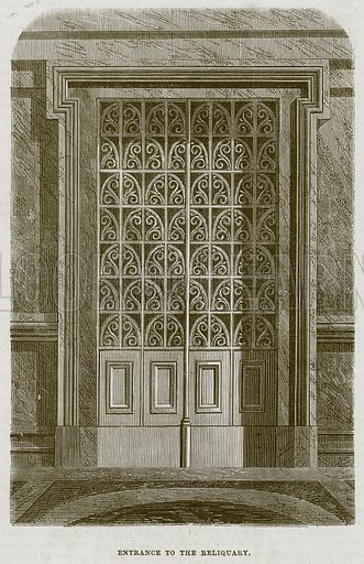 Entrance of the Reliquary. Illustration for The Works of Eminent Artists (Cassell, 1854).