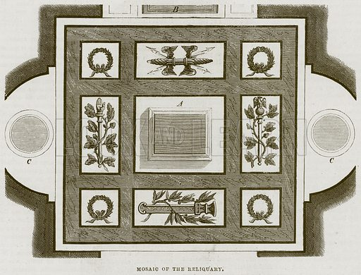 Mosaic of the Reliquary. Illustration for The Works of Eminent Artists (Cassell, 1854).