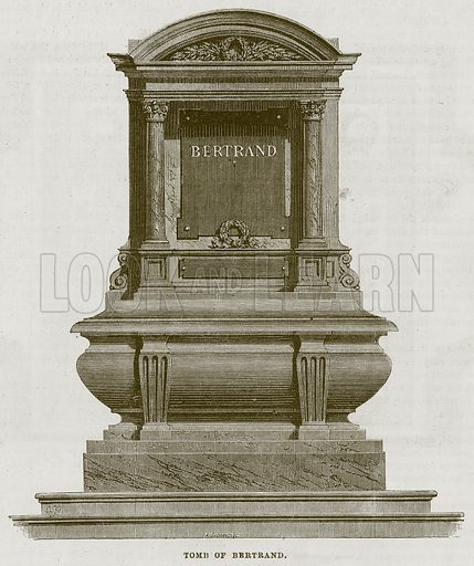 Tomb of Bertrand. Illustration for The Works of Eminent Artists (Cassell, 1854).