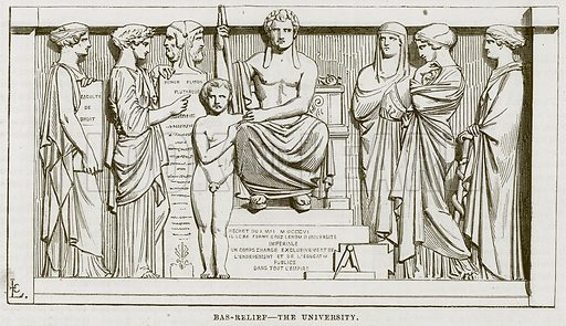 Bas-Relief – The University. Illustration for The Works of Eminent Artists (Cassell, 1854).