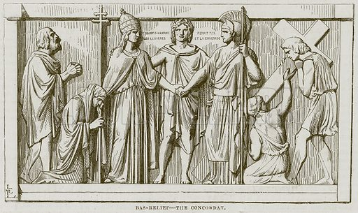 Bas-Relief – The Concordat. Illustration for The Works of Eminent Artists (Cassell, 1854).