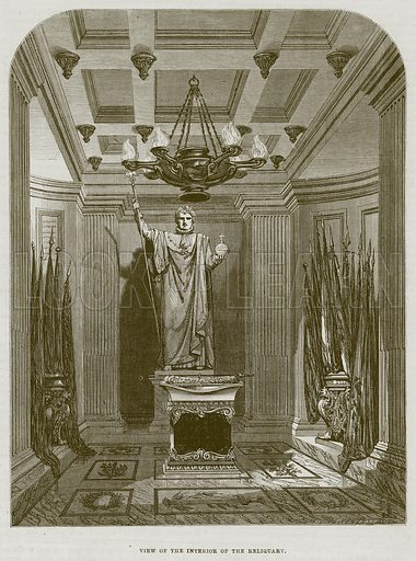 View of the Interior of the Reliquary. Illustration for The Works of Eminent Artists (Cassell, 1854).