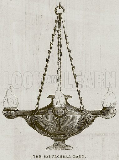 The Sepulchral Lamp. Illustration for The Works of Eminent Artists (Cassell, 1854).