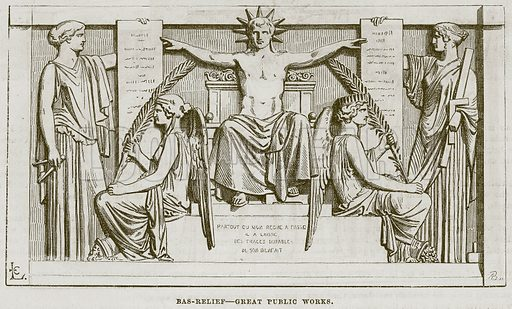 Bas-Relief – Great Public Works. Illustration for The Works of Eminent Artists (Cassell, 1854).