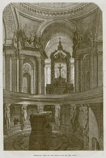 Interior View of the Crypt and of the Tomb. Illustration for The Works of Eminent Artists (Cassell, 1854).