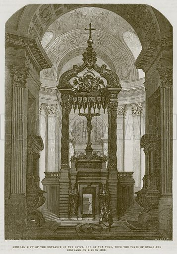 General View of the Entrance of the Crypt, and of the Tomb, with the Duroc and Bertrand on Either Side. Illustration for The Works of Eminent Artists (Cassell, 1854).
