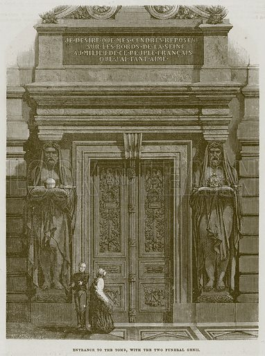 Entrance to the Tomb, with the Two Funeral Genii. Illustration for The Works of Eminent Artists (Cassell, 1854).