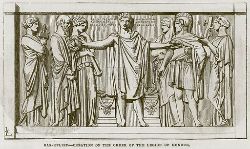 Bas-Relief--Creation of the Order of the Legion of Honour. Illustration for The Works of Eminent Artists (Cassell, 1854).