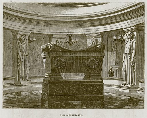 The Sarcophagus. Illustration for The Works of Eminent Artists (Cassell, 1854).
