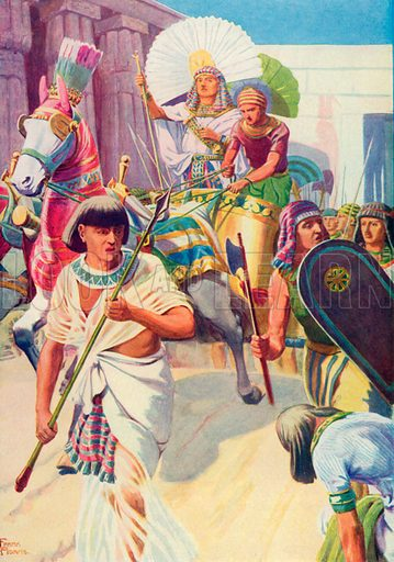 Joseph the Ruler. Illustration for The Bible Picture Book.