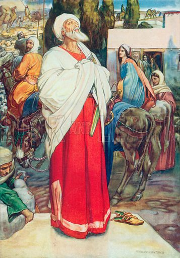 Abraham Leaving Home. Illustration for The Bible Picture Book.