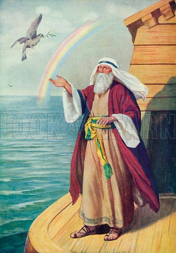 Noah and the Ark. Illustration for The Bible Picture Book.