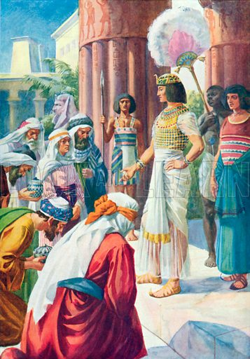 Joseph and his Brothers. Illustration for The Bible Picture Book.