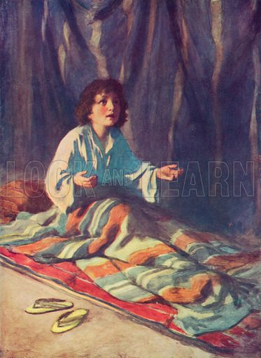 The Child Samuel. Illustration for The Bible Picture Book.