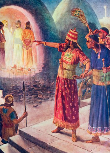 The Fiery Furnace. Illustration for The Bible Picture Book.