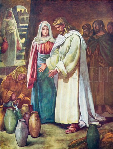 The Marriage at Cana. Illustration for The Bible Picture Book.