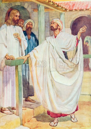 A Nobleman seeks Jesus. Illustration for The Bible Picture Book.