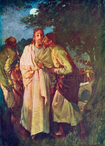The Betrayal. Illustration for The Bible Picture Book.