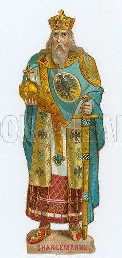 Emperor Charlemagne. Victorian scrap.