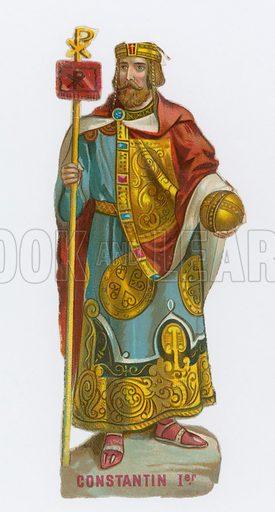 Emperor Constantine I.  Victorian scrap.
