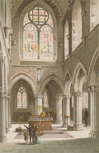 Roslin Chapel. Illustration for Souvenir of Scotland (Nelson, 1889).