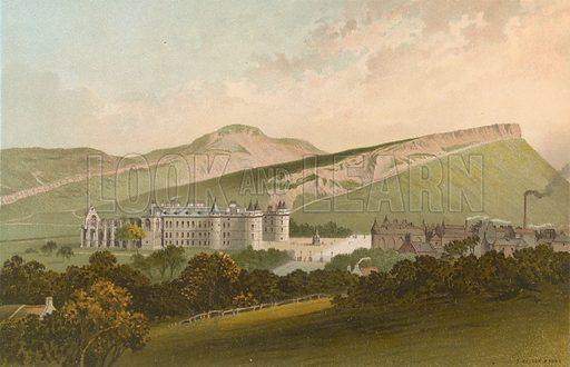 Arthur Seat and Salisbury Crags – Edinburgh. Illustration for Souvenir of Scotland (Nelson, 1889).