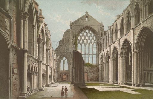 Holyrood Chapel Edinburgh. Illustration for Souvenir of Scotland (Nelson, 1889).