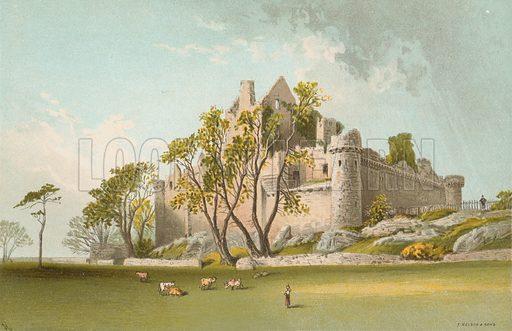 Craigmillar Castle. Illustration for Souvenir of Scotland (Nelson, 1889).