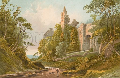 Roslin Castle. Illustration for Souvenir of Scotland (Nelson, 1889).