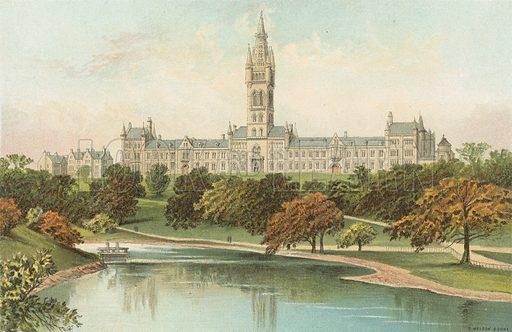 The New University – Glasgow. Illustration for Souvenir of Scotland (Nelson, 1889).