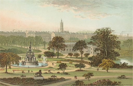 The West End Park – Glasgow. Illustration for Souvenir of Scotland (Nelson, 1889).
