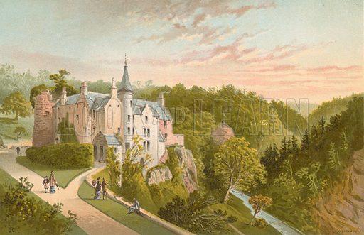 Hawthornden. Illustration for Souvenir of Scotland (Nelson, 1889).