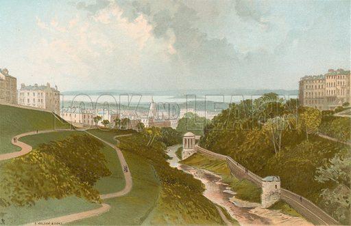 View from the Dean Bridge – Edinburgh. Illustration for Souvenir of Scotland (Nelson, 1889).