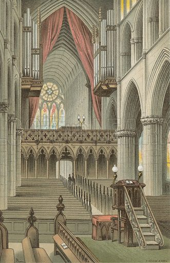 The Choir, Glasgow Cathedral. Illustration for Souvenir of Scotland (Nelson, 1889).