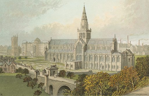 Glasgow Cathedral. Illustration for Souvenir of Scotland (Nelson, 1889).