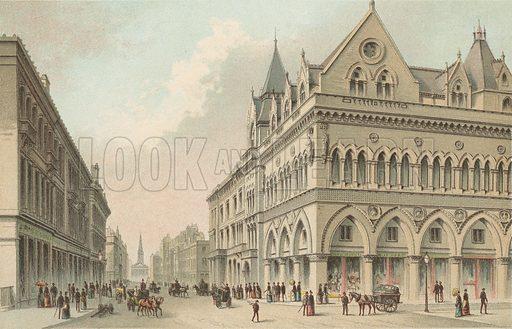 The Stock Exchange, Buchanan Street – Glasgow. Illustration for Souvenir of Scotland (Nelson, 1889).
