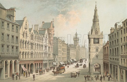 The Trongate – Glasgow. Illustration for Souvenir of Scotland (Nelson, 1889).