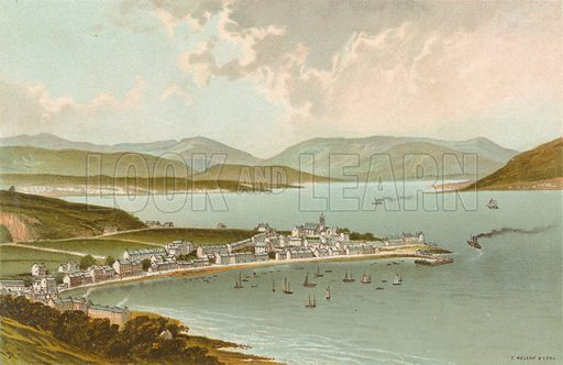 The Clyde from above Gourock. Illustration for Souvenir of Scotland (Nelson, 1889).