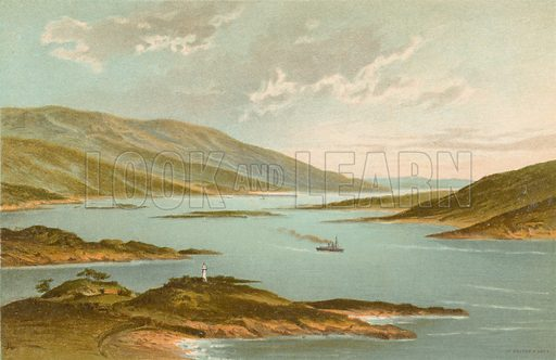 The Kyles of Bute. Illustration for Souvenir of Scotland (Nelson, 1889).