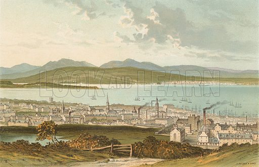 Greenock. Illustration for Souvenir of Scotland (Nelson, 1889).