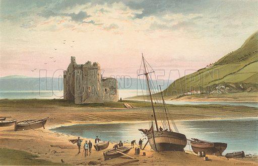 The Castle, Loch Ranza. Illustration for Souvenir of Scotland (Nelson, 1889).