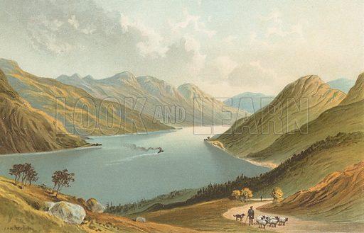 Loch Long. Illustration for Souvenir of Scotland (Nelson, 1889).